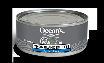 Pêché à la ligne avec une canne – Thon blanc entier et émietté