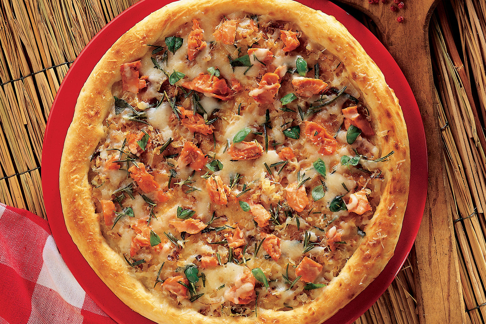 Wild Sockeye Salmon Pizza