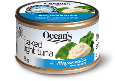 One can of Ocean's Flavoured Flaked Light Tuna with Mayonnaise