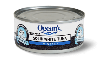 One can of Ocean's Solid White Albacore Tuna