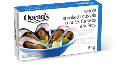 Whole Smoked Mussels