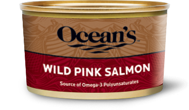 One can of Ocean's Wild Pink Salmon