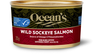 One can of Ocean's Wild Sockeye Salmon