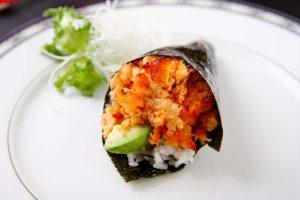 1 hand rolled temaki sushi cone