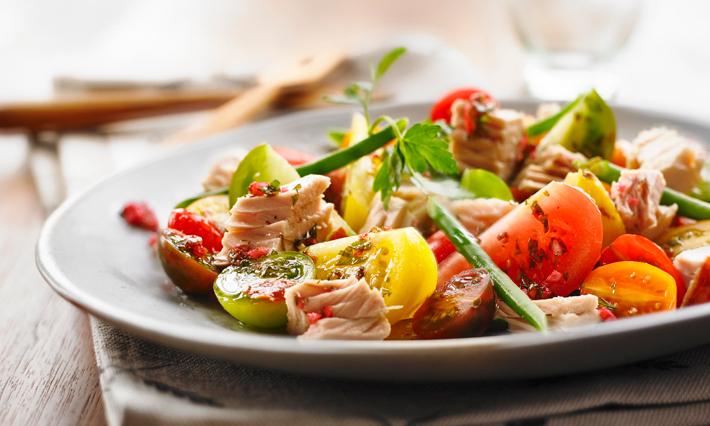 Tuna, Tomato and Fresh Green Beans Salad
