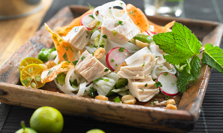 Tuna Vietnamese-Style Rice Noodle Salad