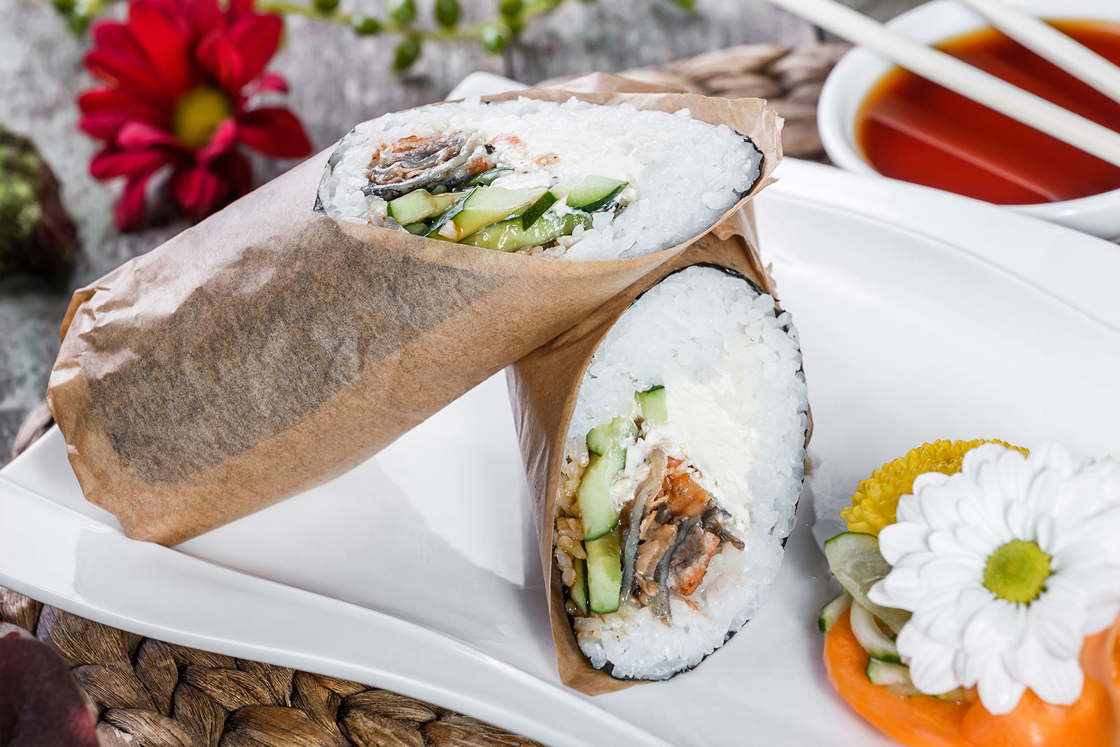寿司墨西哥海鲜卷