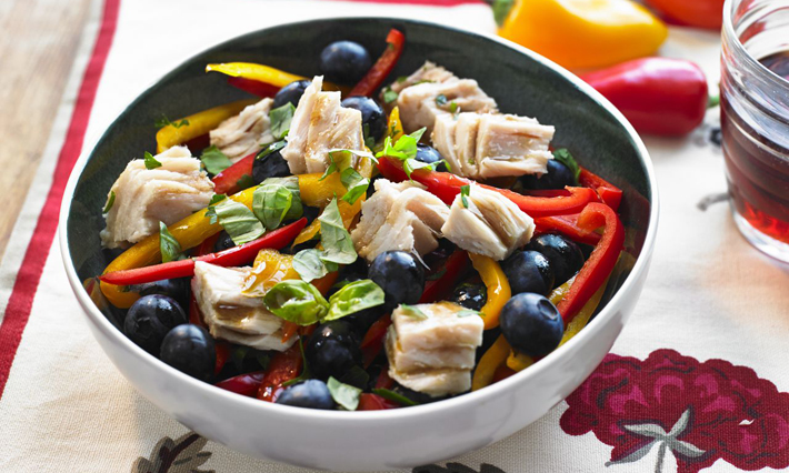 Tuna and Blueberry Salad