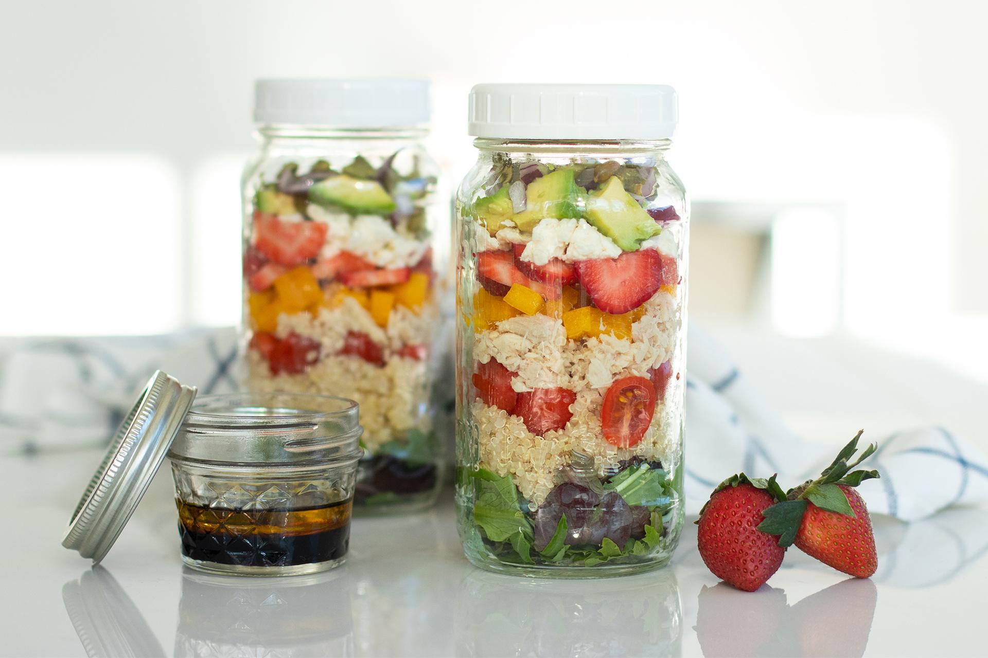 Mason Jar Tuna Rainbow Power Salad