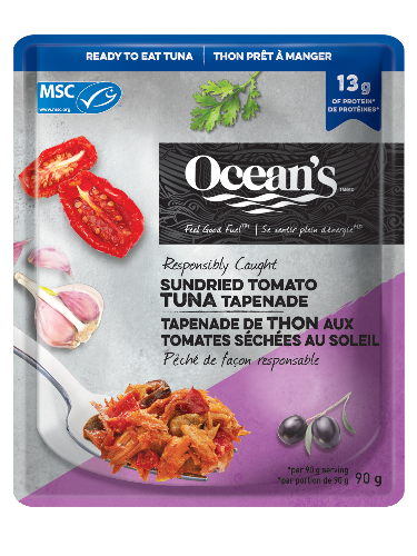 Sachet de tapenade de thon aux tomates séchées au soleil
