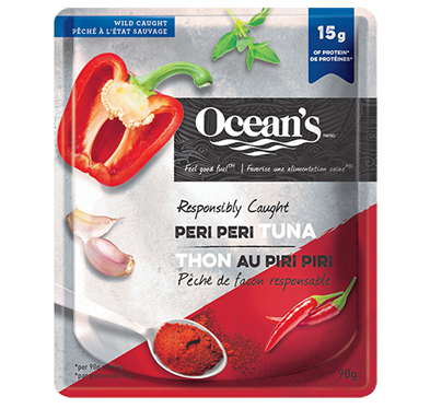 One pouch of Ocean's Peri Peri Tuna