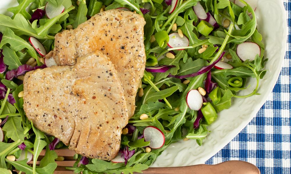 OC TunaSteak Arugula Salad1