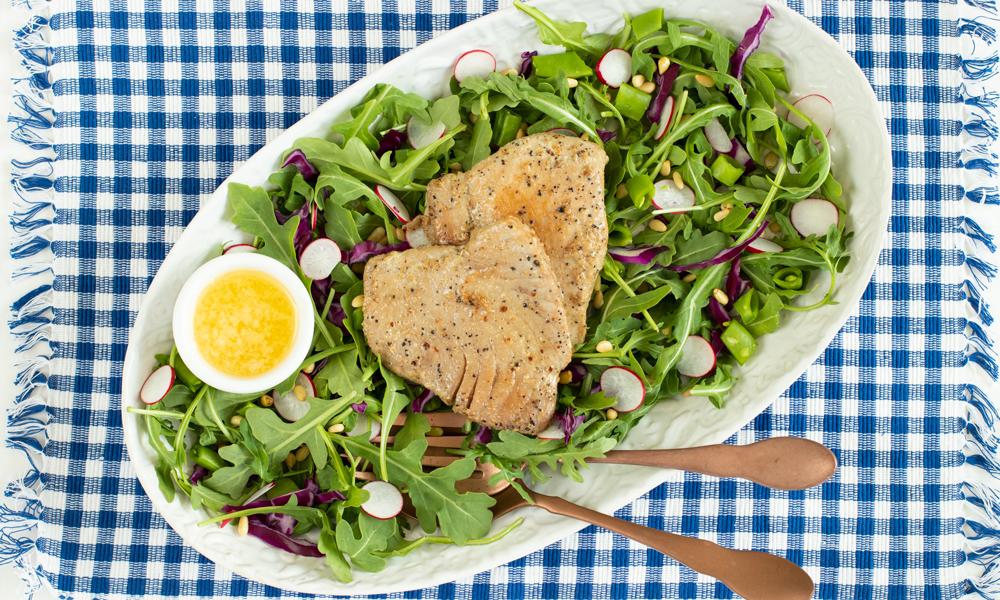 OC TunaSteak Arugula Salad2