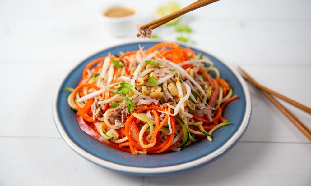 healthy tuna pad thai recipe | ocean's