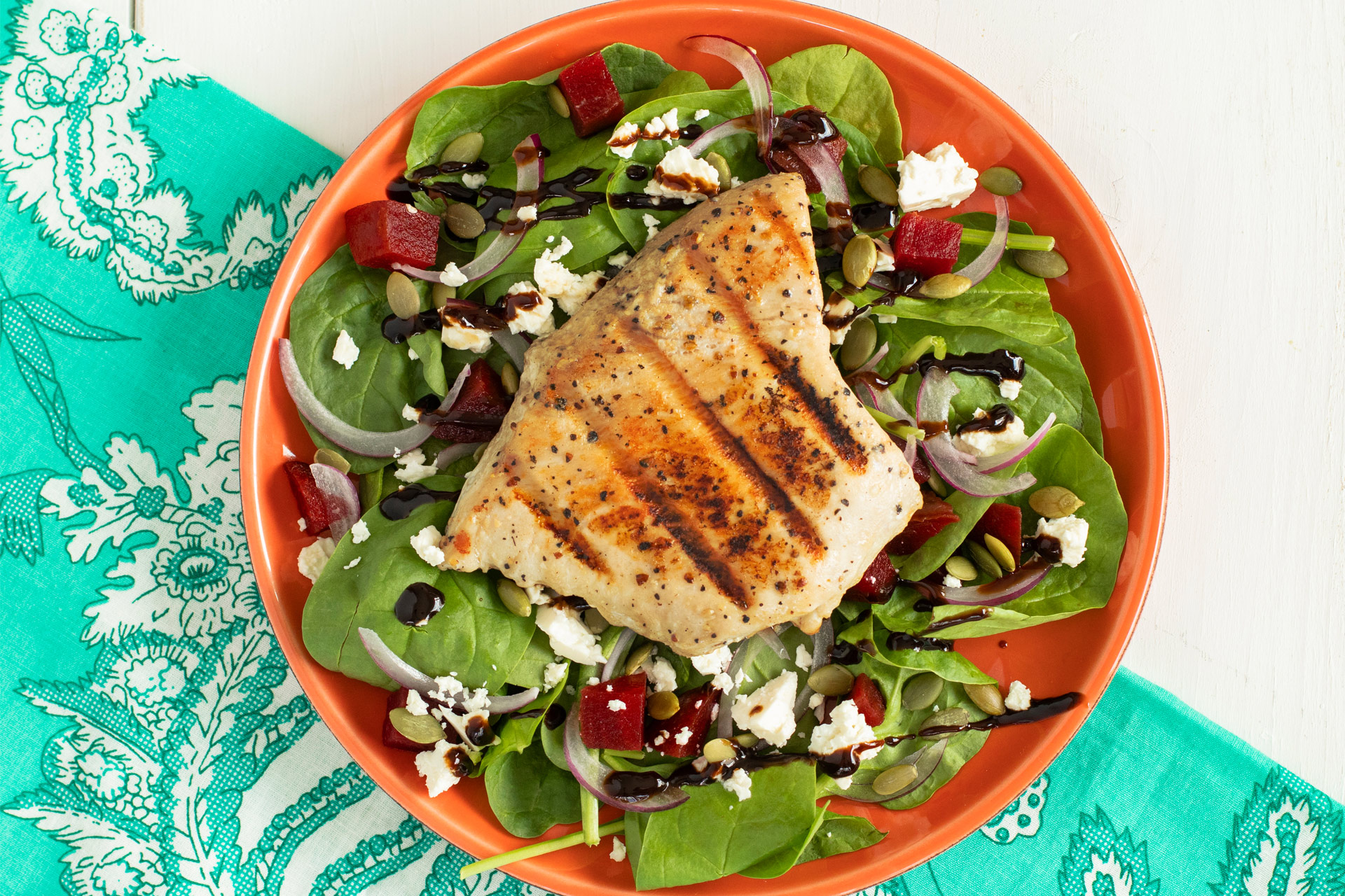 Spinach and Beet Tuna Salad