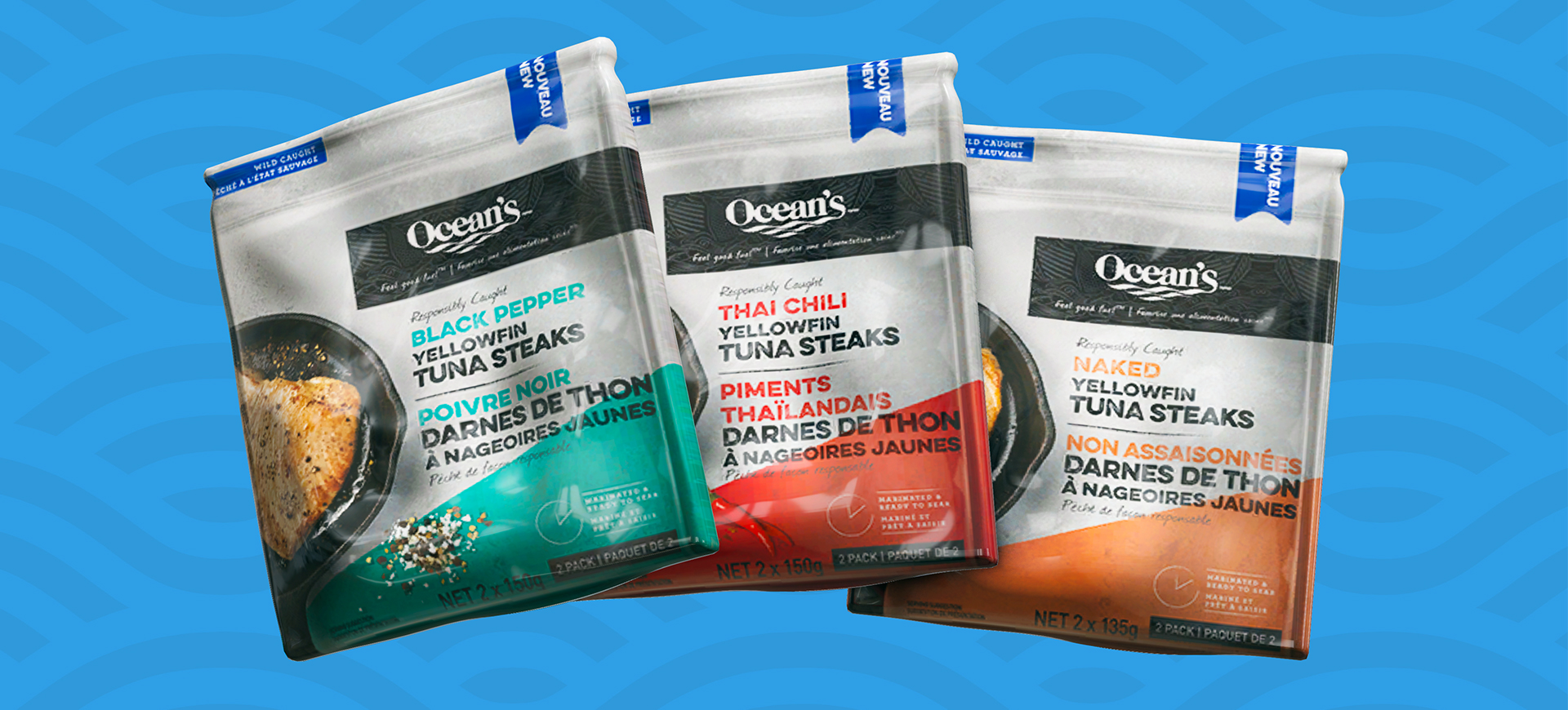 Bold. Simple. Tasty. Ocean's Tuna Steaks are Finally Here!​