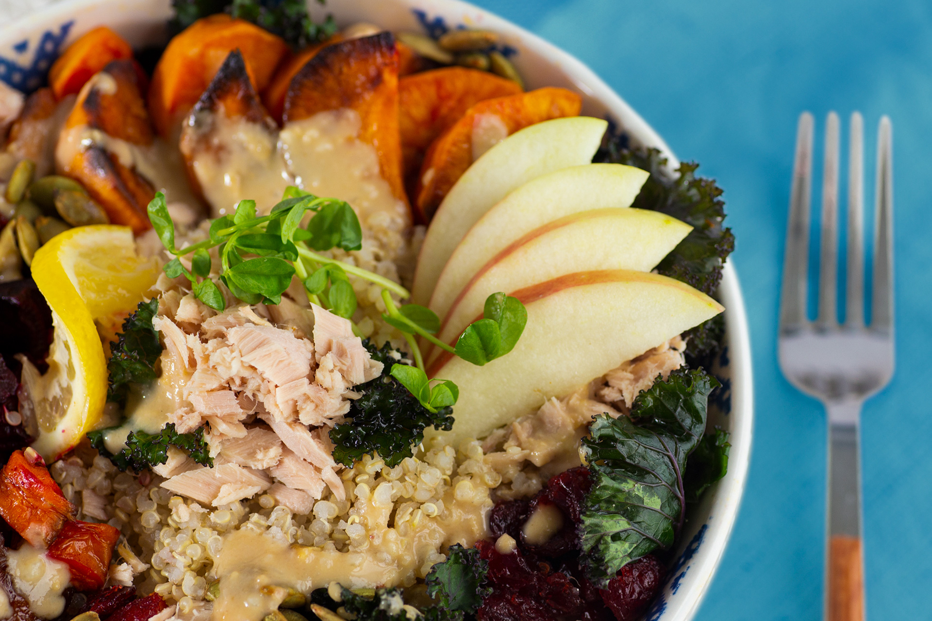 Fall Harvest Bowl with Tuna
