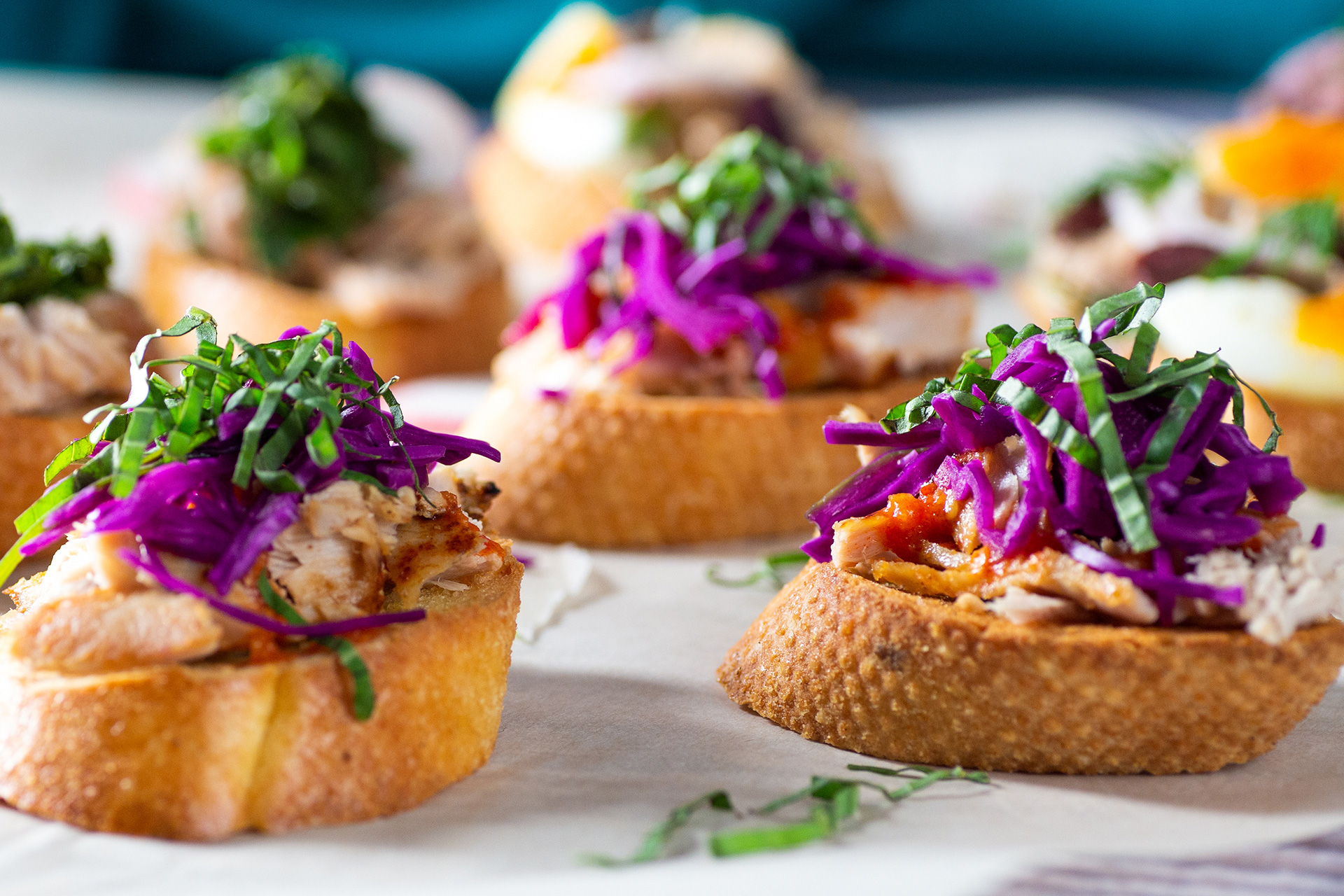 Thai Chili Yellowfin Tuna Crostini