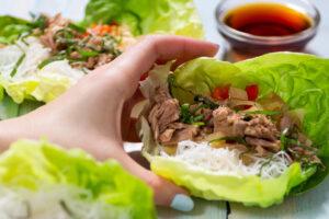 Oceans Tuna Lettuce Wraps