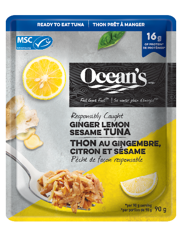 Sachet de thon au gingembre, citron et sésame