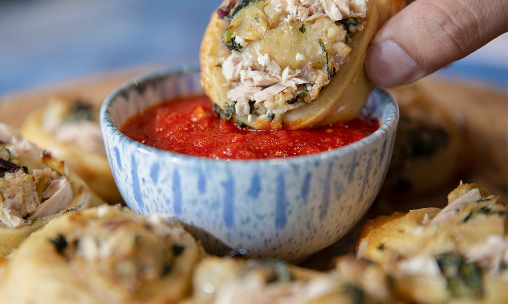 Oceans Authentica Baked Tuna Ricotta and Spinach Pinwheels 2