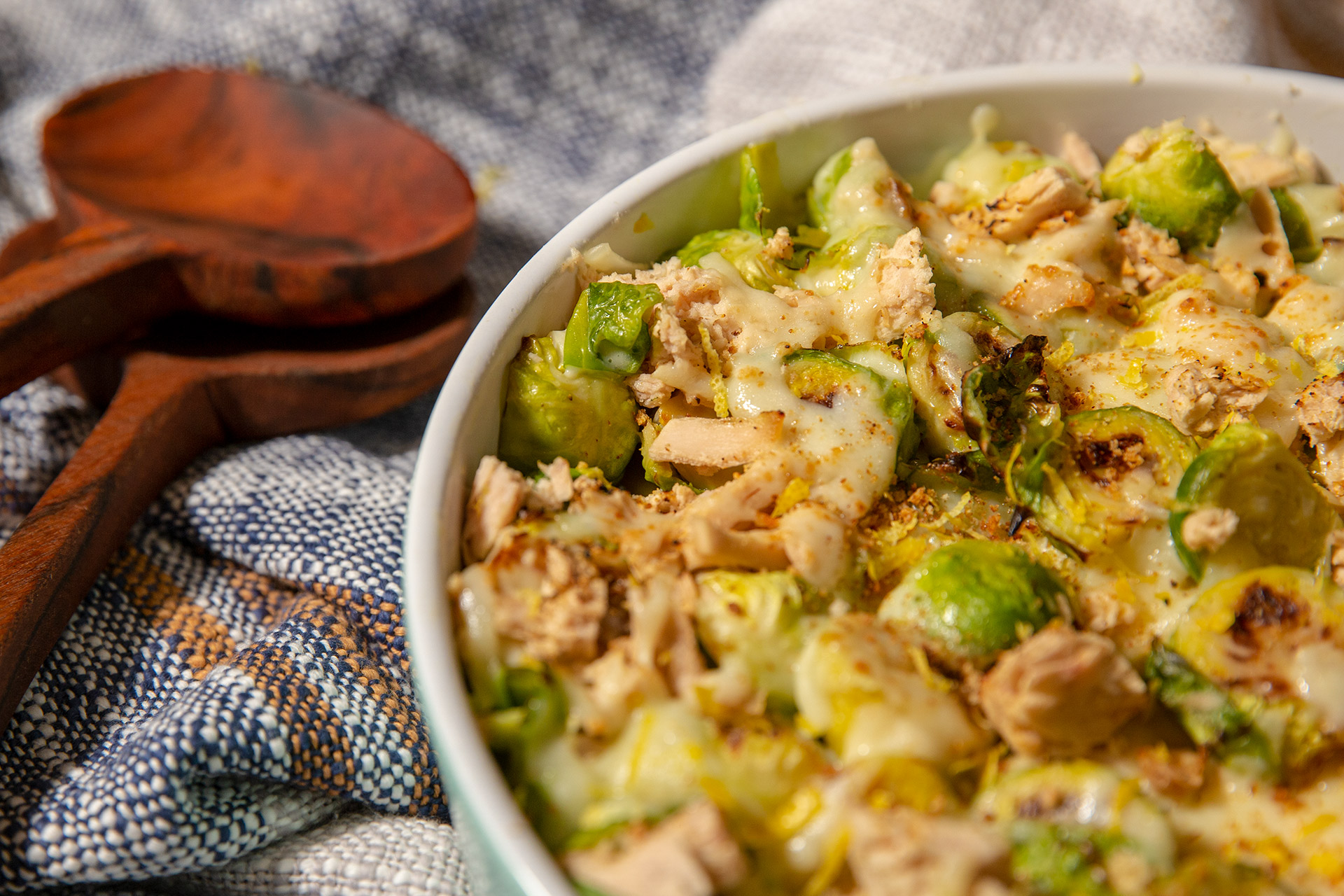 Tuna Brussel Sprout Gratin