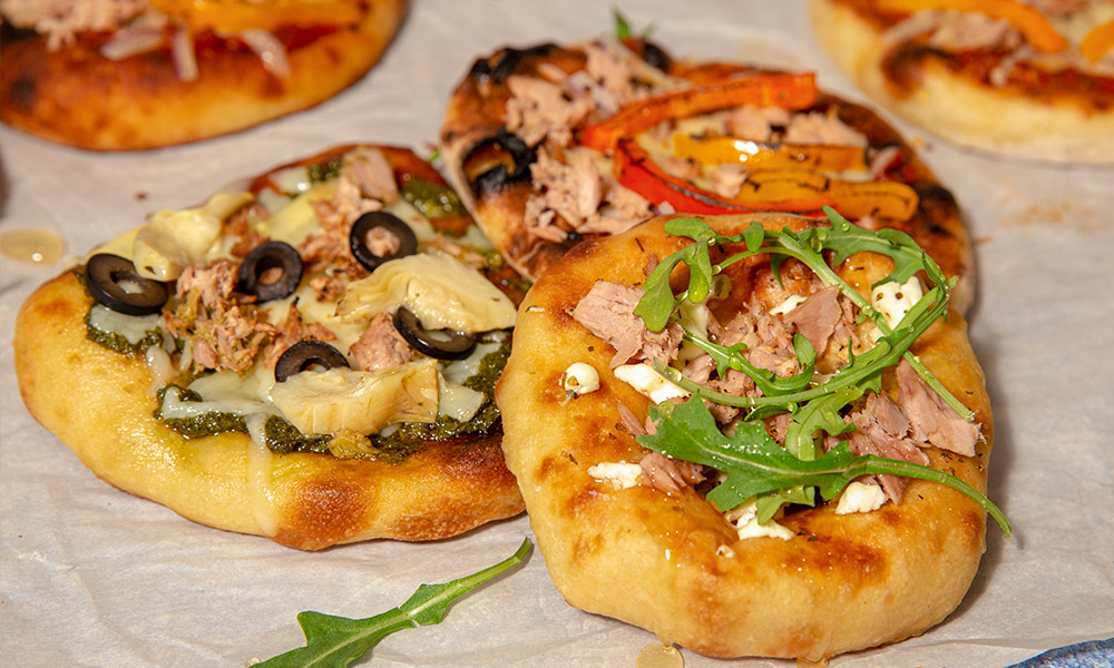 Oceans Pizzas 3 ways 3