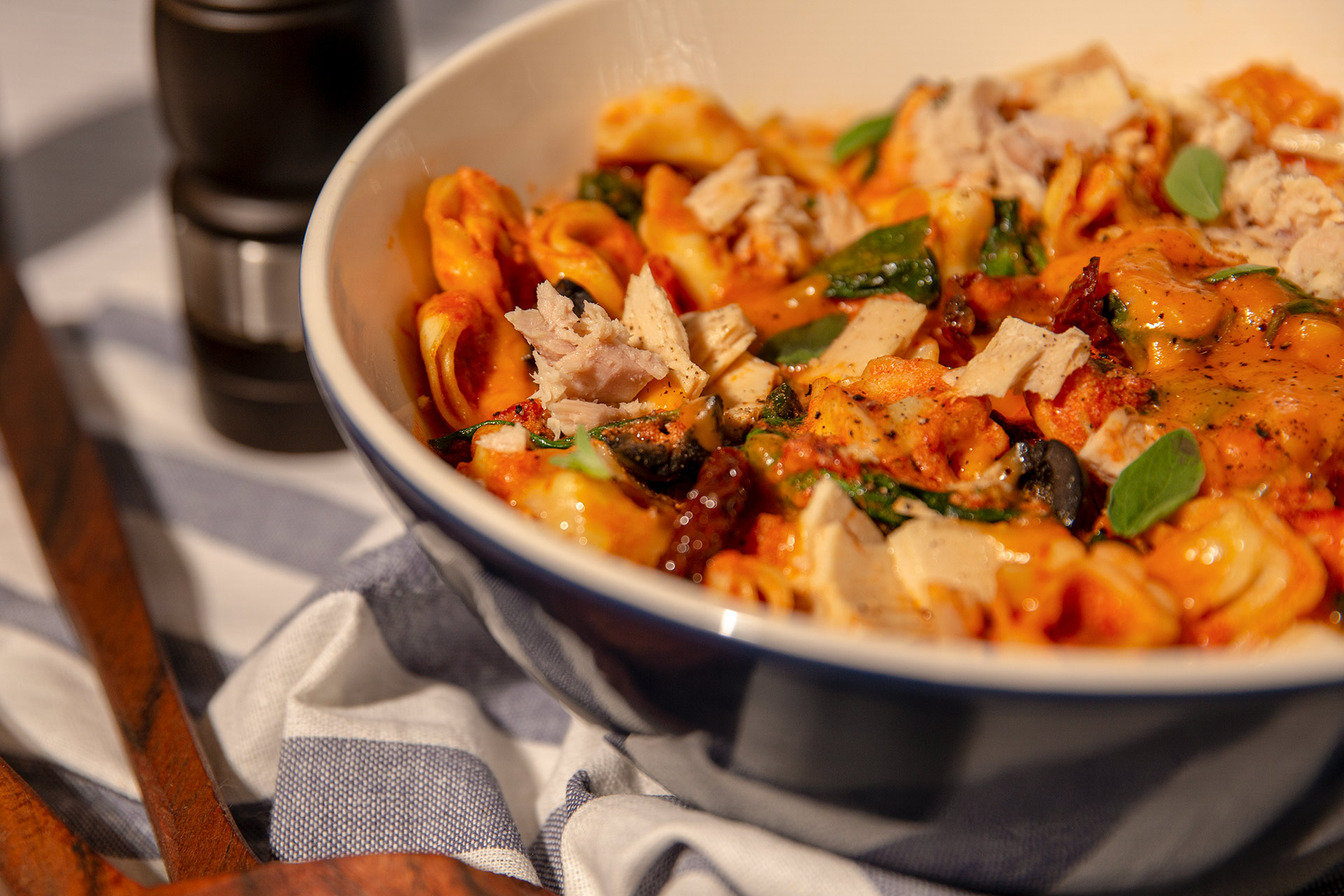 Valentine's Day Dinner: Creamy Tuna Tortellini Pasta