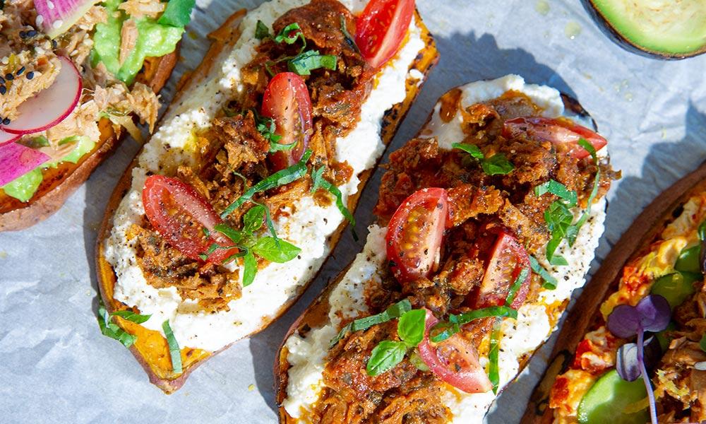 Sundried Tomato Tuna & Ricotta Sweet Potato Toast
