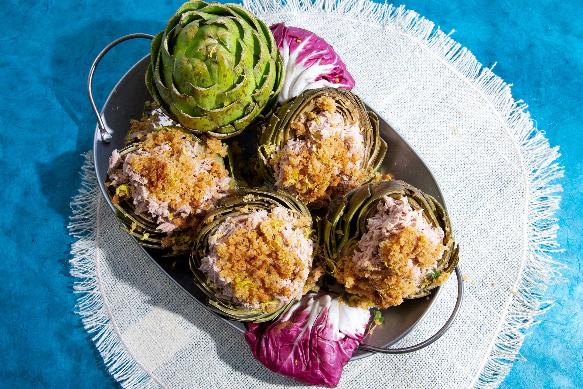 Tuna Stuffed Artichokes