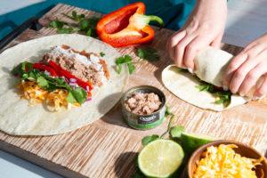 Oceans Tuna in basil Burrito Feature
