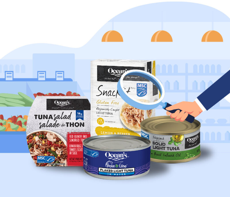 Oceans Products with MSC labels